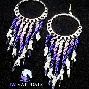 Handmade Twisted Passions Fringe Hoop Earrings